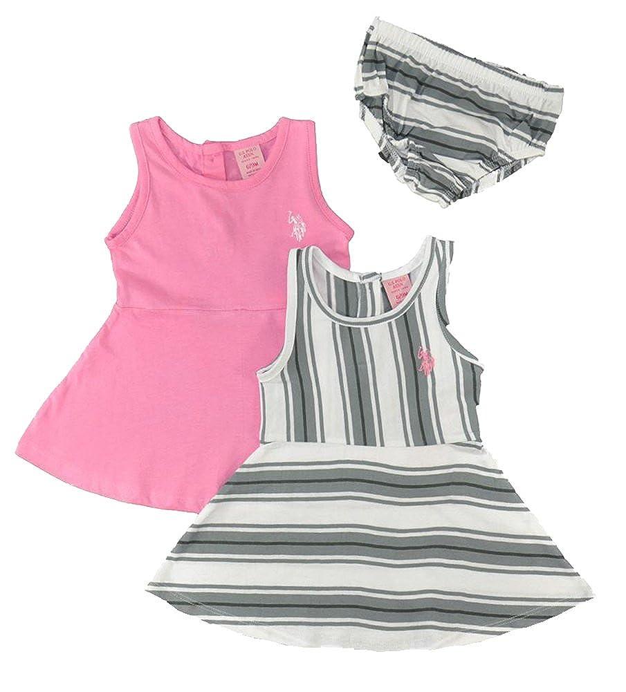 Polo Assn U.S Baby GirlsMatch Point 2-Pack Dress