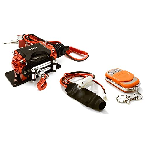 Integy RC Model Hop-ups C27160RED Billet Machined T3 Realistic Mega Winch (Toy) w/Wireless Module for 1/10 Scale Crawler