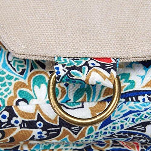Chang Spent tendencias de la moda de las mujeres con una variedad de bolsa pequeña bolsa de deporte de la lona del bolso de la cintura bolsa de mensajero (color opcional) , blue Blue