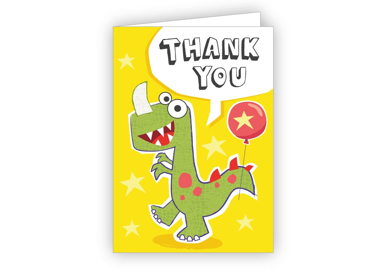Children's Thank You Cards Dinosaur 20 Pack PaperGekko