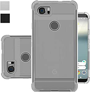 Google Pixel 2 XL Case, Google Pixel XL2 Case, Starhemei Slim Full-Body Protective TPU Soft Brushed Texture Shock Absorption Phone Case Cover for Google Pixel2 XL (Clear)
