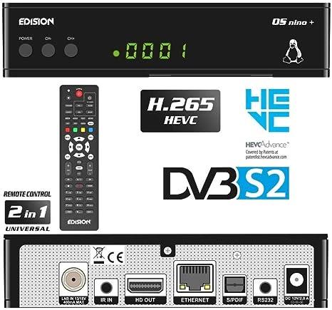 Edision Os Nino Full Hd Linux E2 Sat Receiver H 265 Hevc 1x Dvb S2 2x Usb Hdmi Lan Linux Kartenleser 1080p Vorprogrammiert Für Astra 01 08 0016 Heimkino Tv Video
