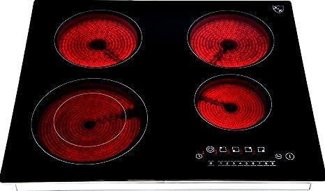 Vetroceramica Piano Cottura Elettrico 4 Zone C7205: Amazon.it: Casa ...