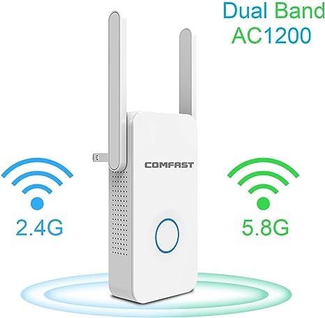 COMFAST WiFi Range Extender, 1200Mbps WiFi Extender/Repetidor ...