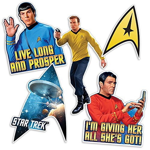 Star Trek Collectible Stickers with Captain Kirk, Spock, Scotty, & the Command Delta Shield Star Trek Stickers