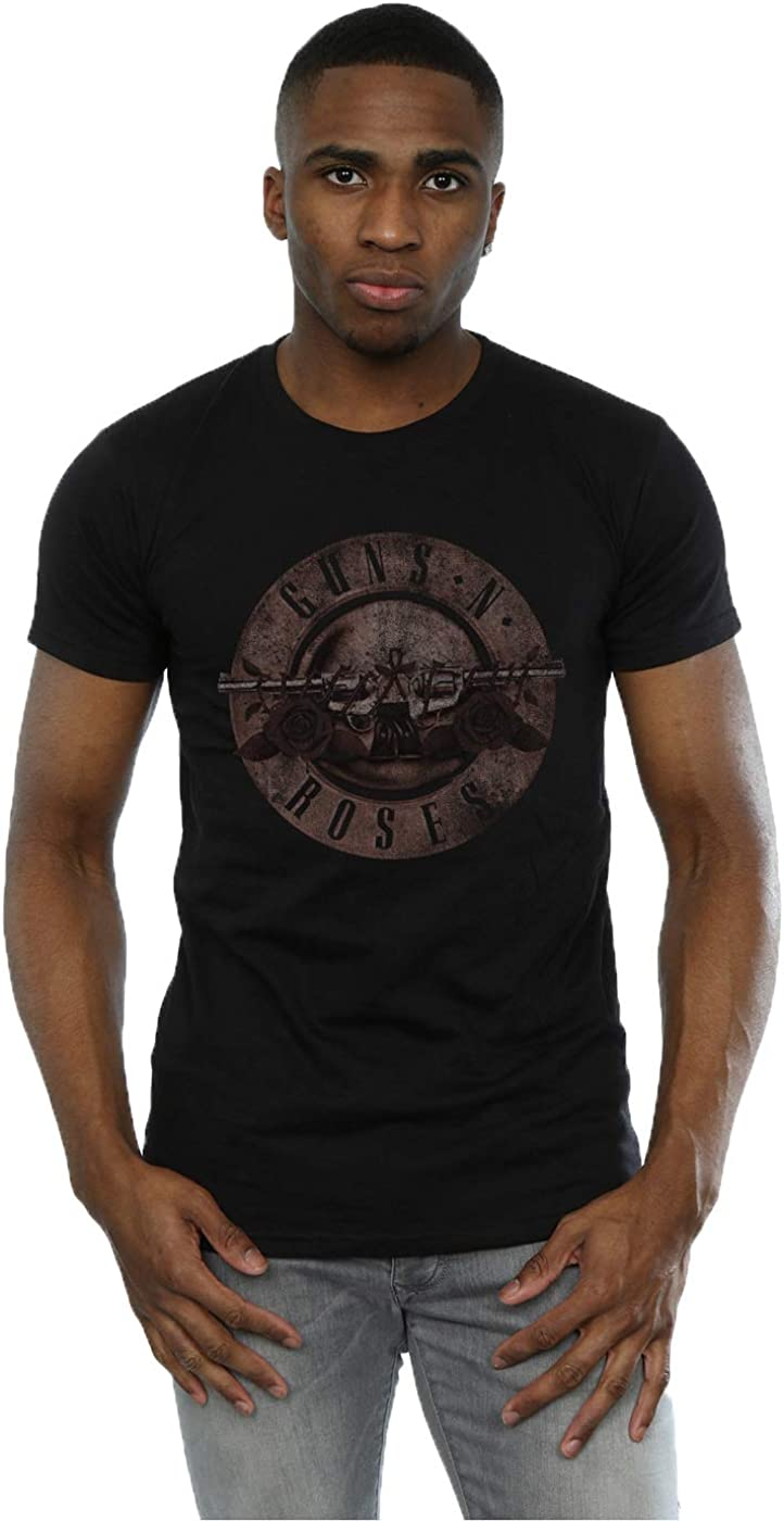 Guns N Roses Hombre Sepia Bullet Logo Camiseta