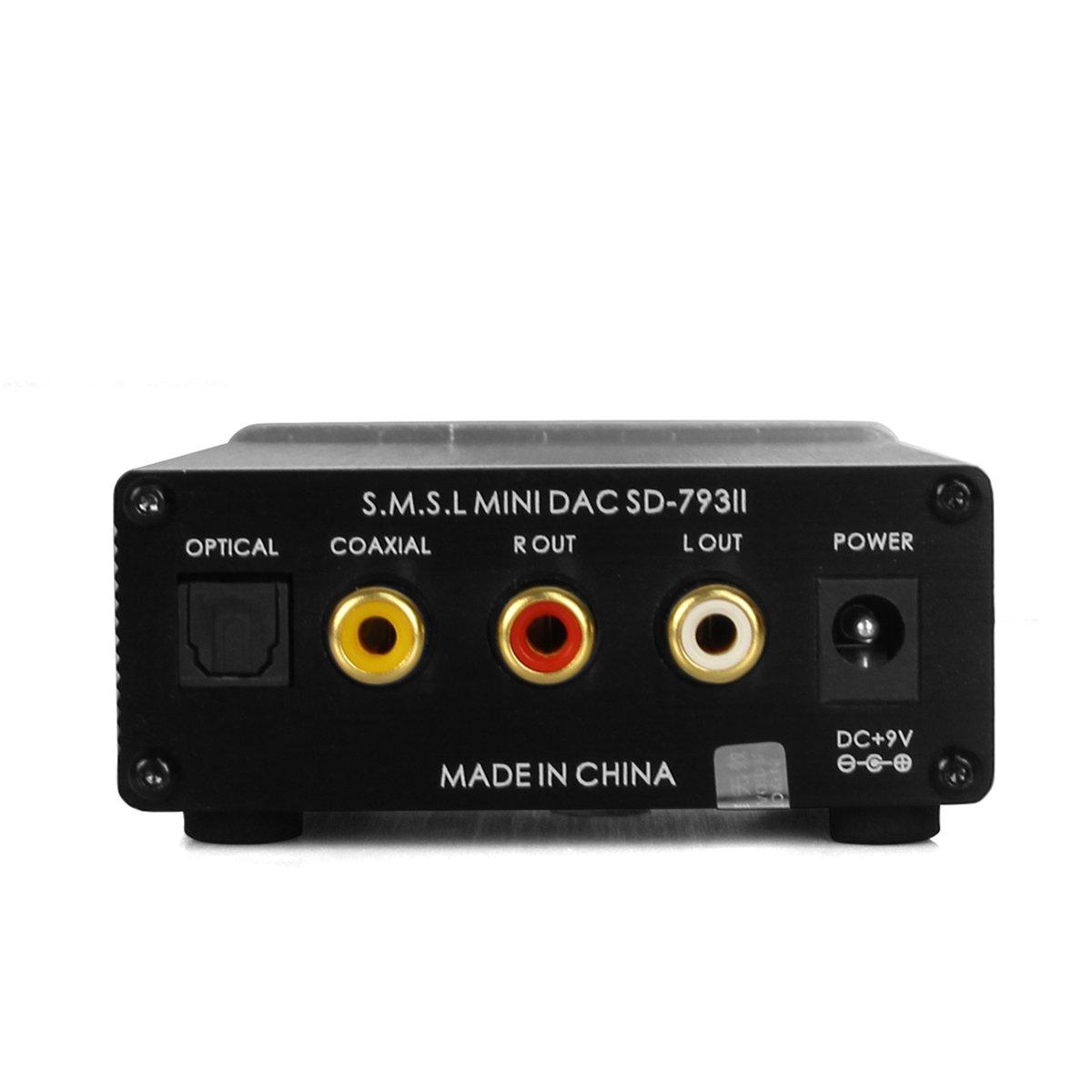 SMSL SD-793II DIR9001 PCM1793 DAC Digital Audio Decoder amplificador Plata: Amazon.es: Electrónica