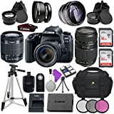 Canon EOS 77D 24.2 MP Digital SLR Camera with Wi-Fi & Bluetooth + Canon EF-S 18-55mm IS STM Lens + Tamron Zoom Telephoto AF 70-300mm f/4-5.6 Autofocus Lens + Accessory Bundle