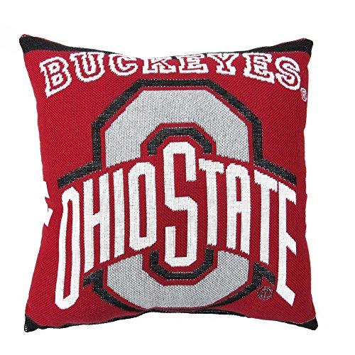 - 1 Piece NCAA Buckeyes Theme Woven Throw Pillow 20