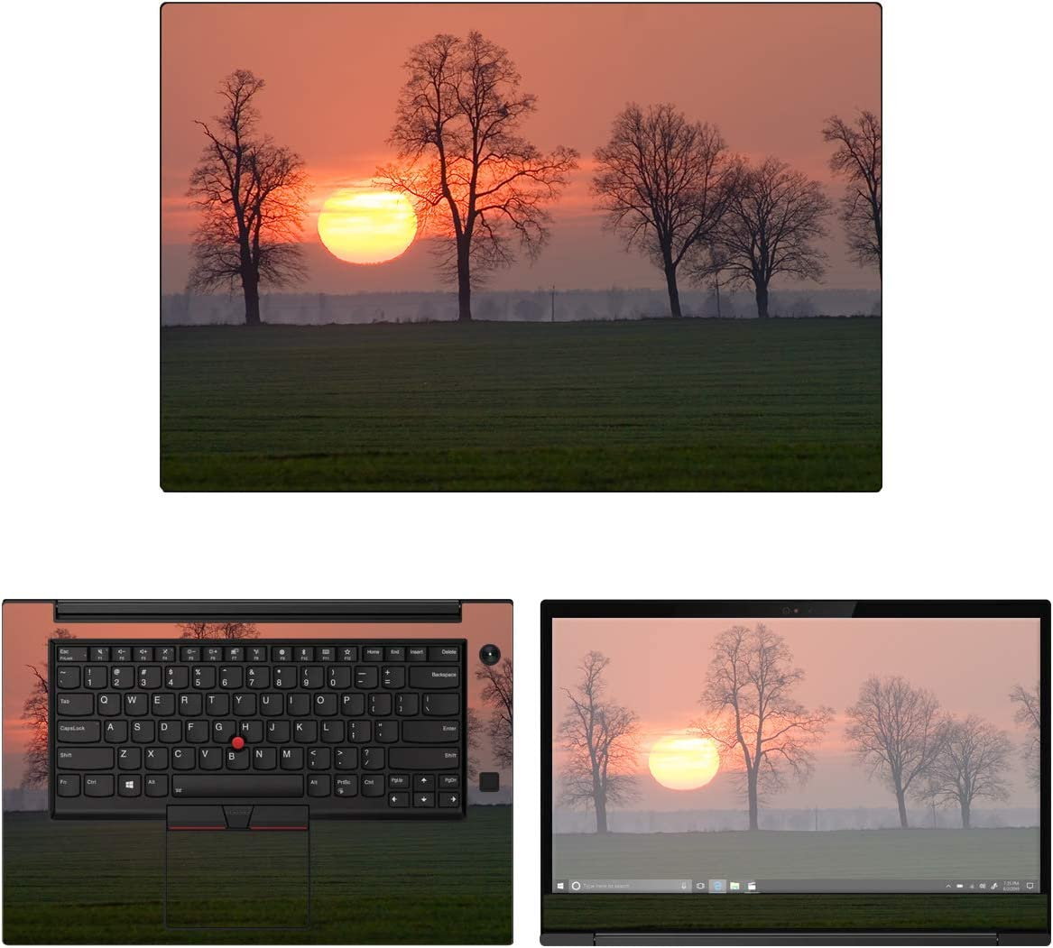 "Decalrus - Protective Decal Sunset Skin Sticker for Lenovo ThinkPad X1 Extreme (2nd Gen.) (15.6"" Screen) case Cover wrap LEthnkpdX1extreme_2gen-256"