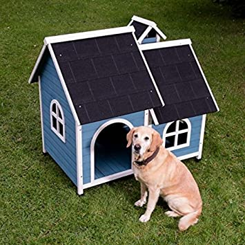 Ida Caseta impermeable de madera con techo de asfalto para perro, gama de diferentes tamaños