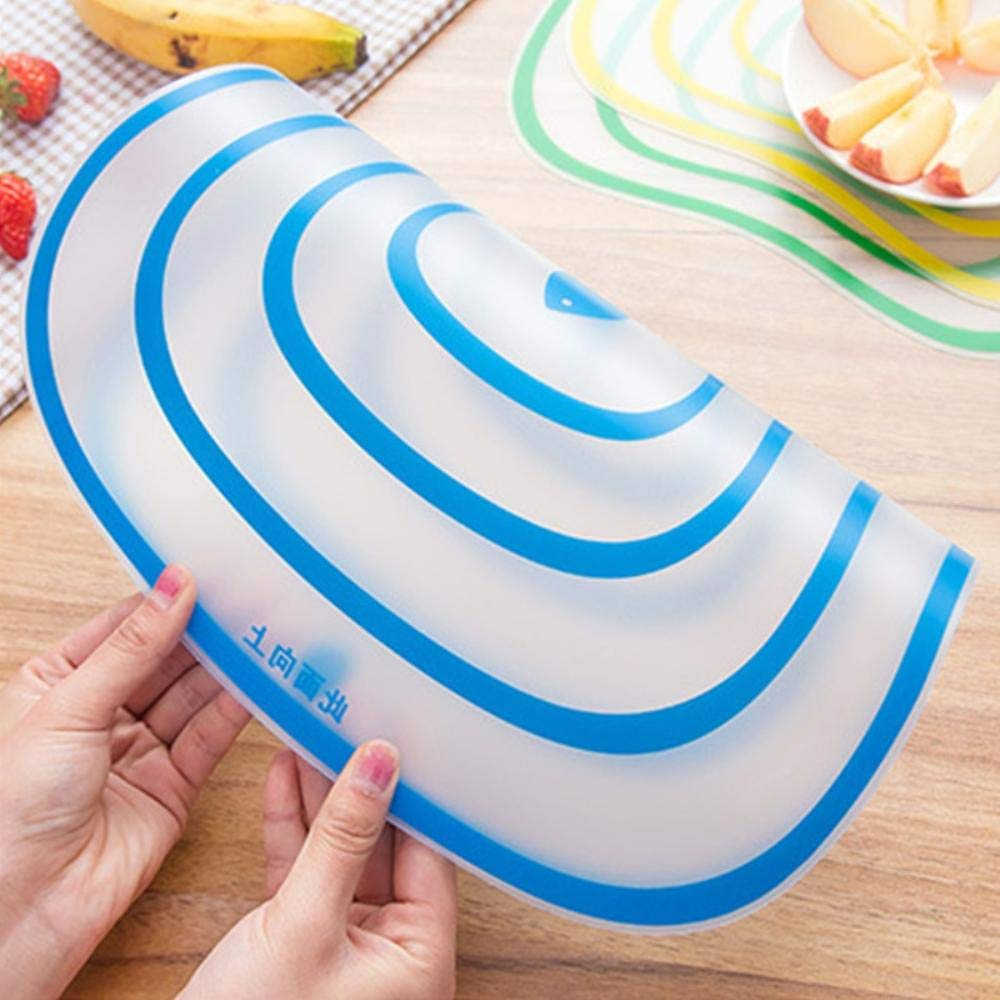 Amazon.com: 4 Pcs/Lot Flexible Kitchen Plastic Chopping Block Cutting Board Non-slip Frosted Antibacteria Cutting Block (30x25): Kitchen & Dining