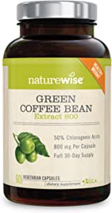Amazon Com Naturewise Green Coffee Bean 800mg Max Potency Extract