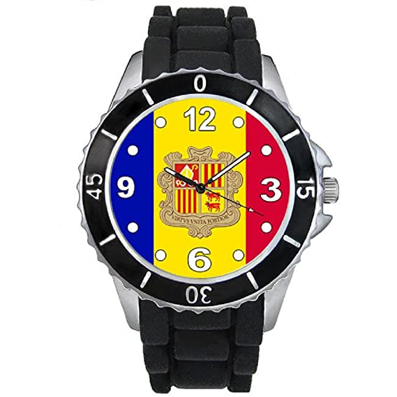 Andorra Reloj unisex con correa de silicona negro: Timest: Amazon.es: Relojes