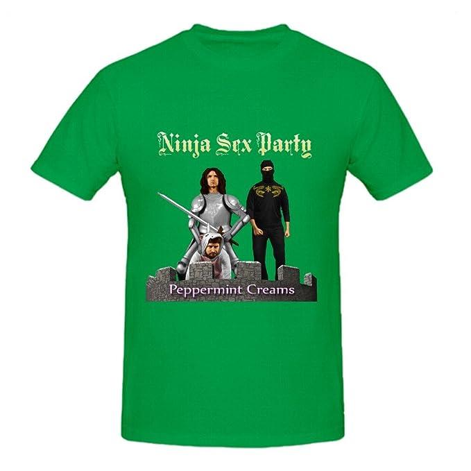 Amazon.com: Ninja Sex parte Cremas de menta negro camisetas ...