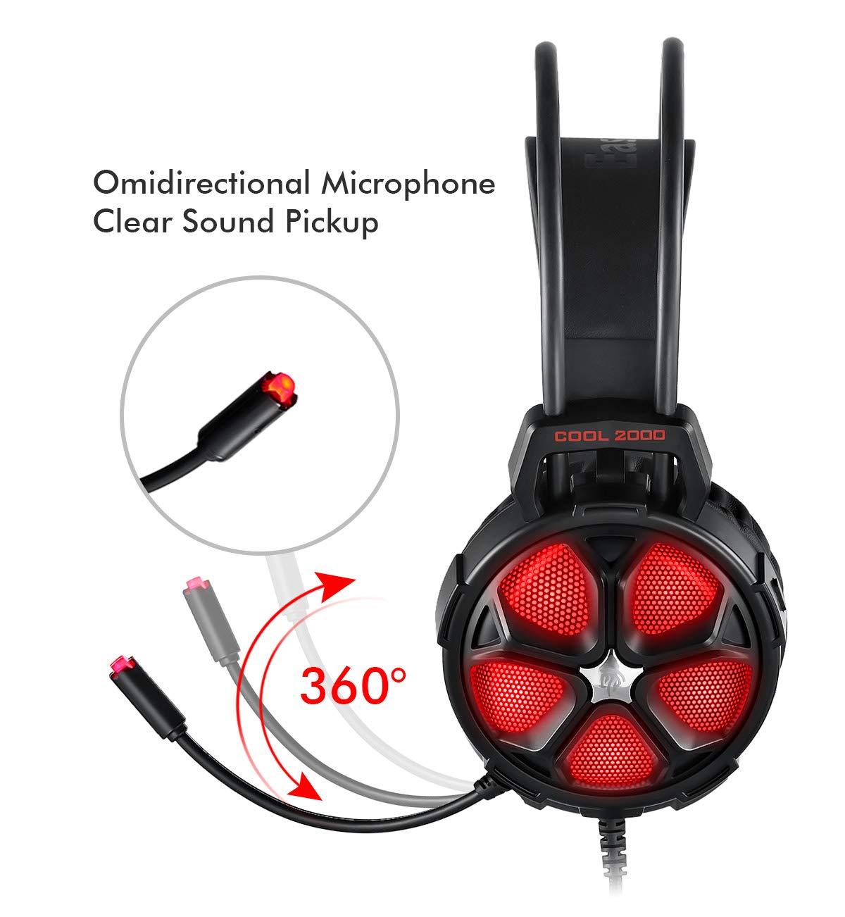 PC Headset EasySMX USB Gaming Headset 7.1 Surround Sound Stereo Gaming Kopfh/örer f/ür PS4 Over-Ear Gamer Headphones mit Mikrofon PC Games