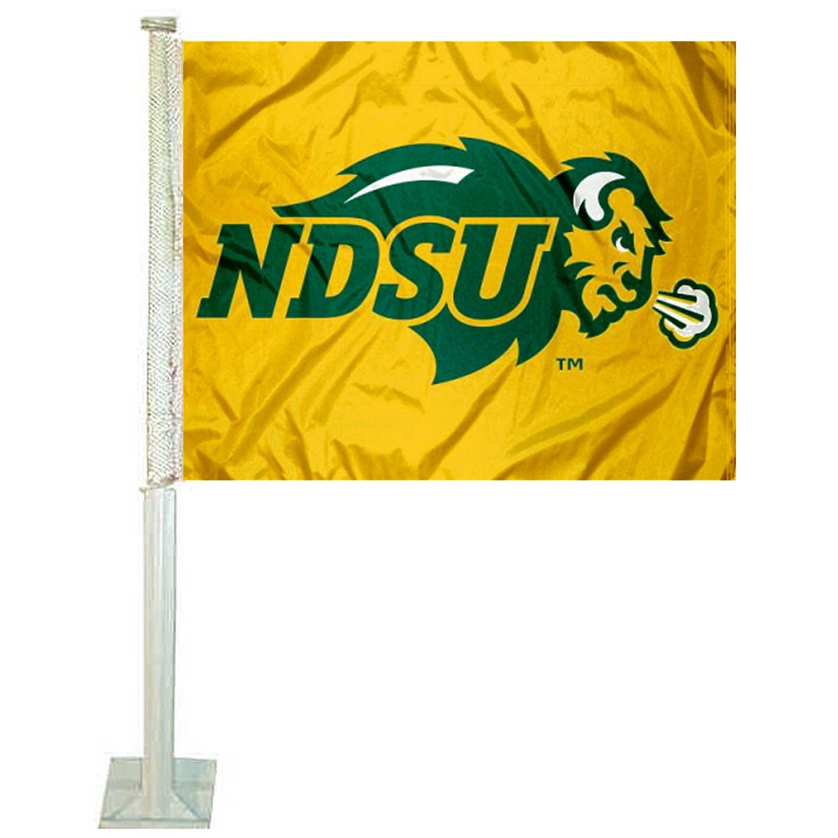 North Dakota State Bison Gold Car Flag College Flags and Banners Co.