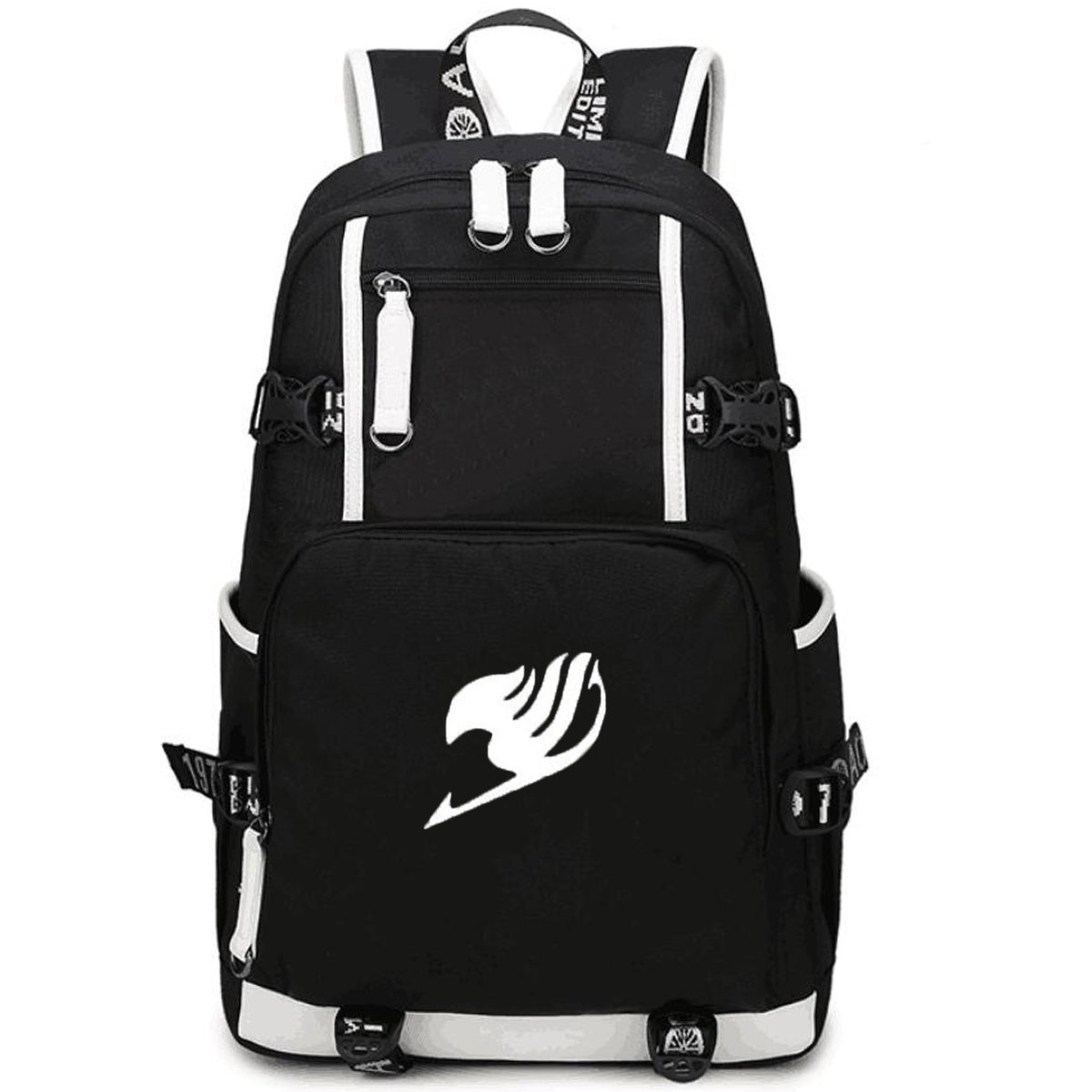 80c51aed38 Nsoking hot anime fairy tail cosplay school student travel backpack bag  length height width clothing jpg