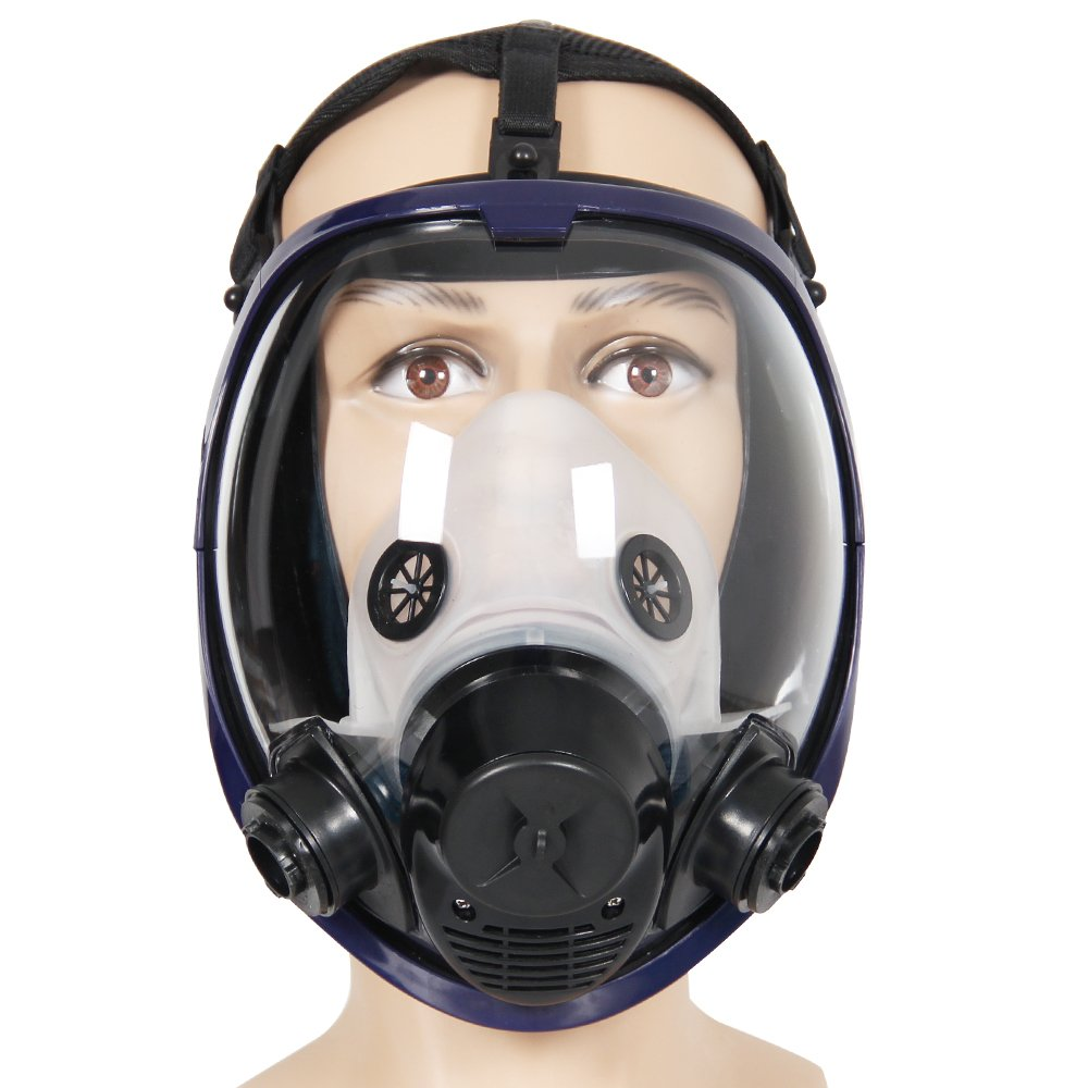 2 in 1 Function 6800 Full Face Respirator Silicone Full Face Gas Mask Facepiece Spraying Painting