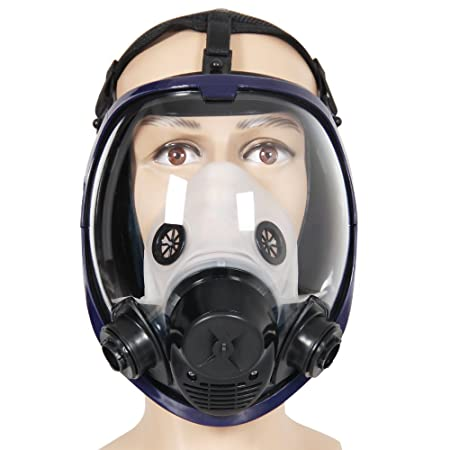 For 6800 Silicone Gas Mask Full Facepiece Respirator Painting Grey Full Face Spraying Mask Anti Dust Festive & Party Supplies