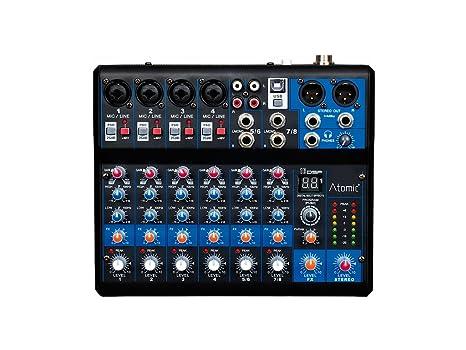 Atomic mix-s 402 mesa de mezclas 4 canales Mono – 2 Canal estéreo ...