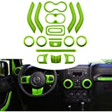 Opall 18PCS Full Set Interior Decoration Trim Kit Steering Wheel & Center Console Air Outlet Trim, Door Handle Cover…