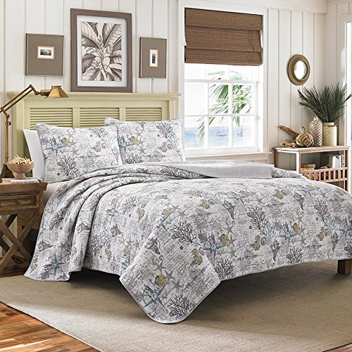 Tommy Bahama Quilt Set, King, Beach Bliss