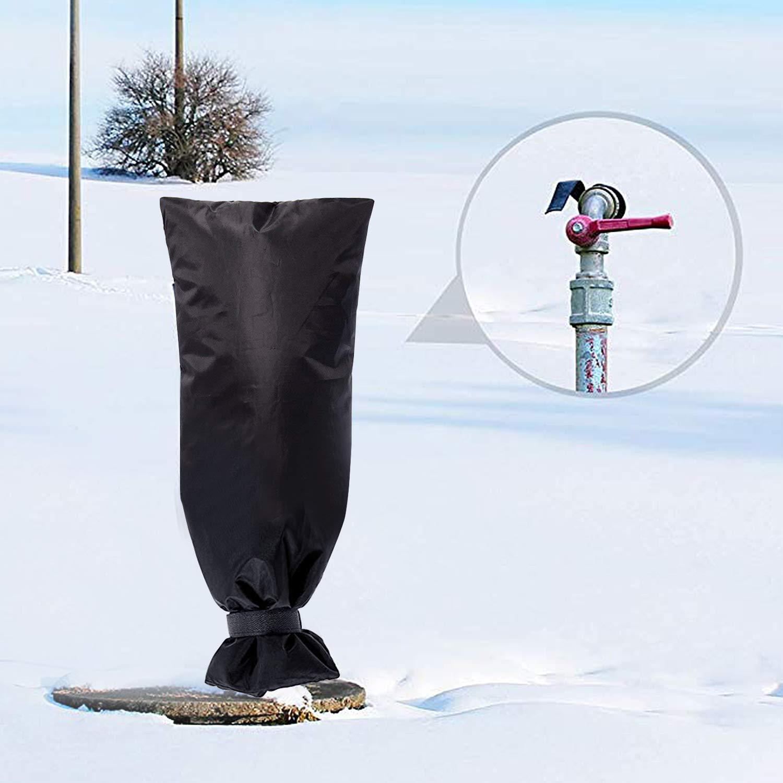 WillMall Copriscarpe Outdoor per Calze Invernali Faucet 2 Pezzi Calze Isolamento Esterno Giacca antigoccia Impedire Il congelamento luso in Giardino Cortile