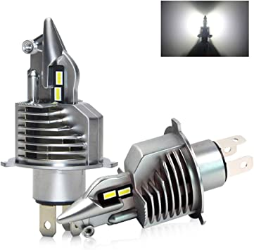 H4 LED Car Headlight Bulbs High Low Beam 70W 16000LM 6500K White with Fan Super Bright Waterproof Headlight Plug And Play All in One Conversion kit 2 Year Warranty