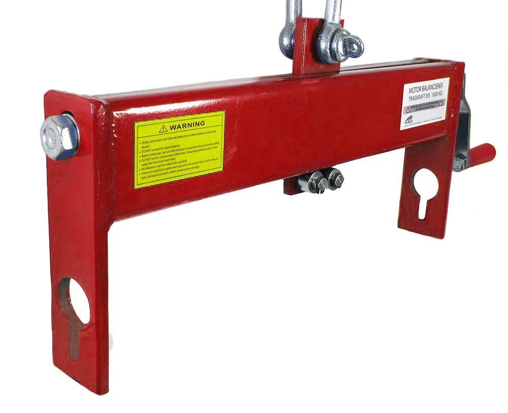 Carparts-Online 28798 Ramroxx Profi Motor Balancierer Positionierer bis 1800kg f/ür Hebekran rot
