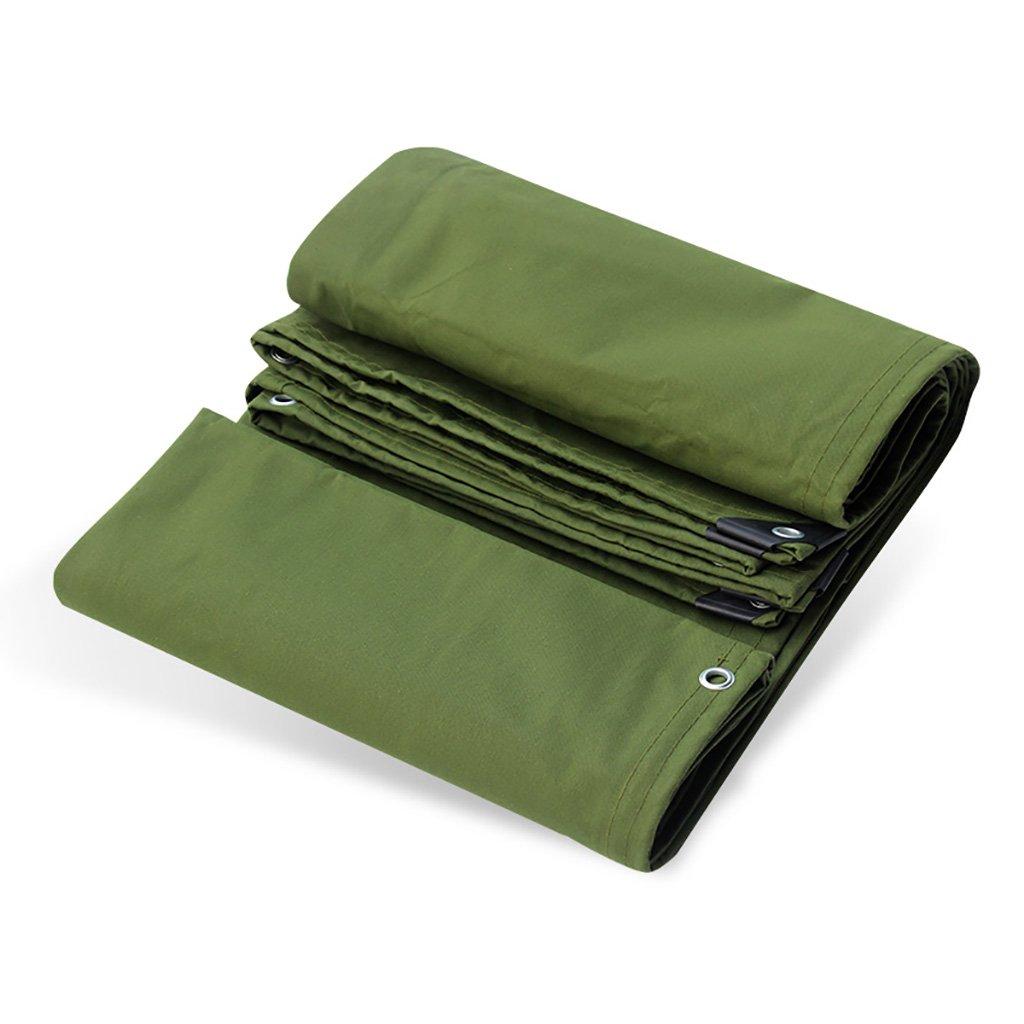 AJZGF Im Freien Starkes regendichtes Wasserdichtes Segeltuchautoparadeladung-schützendes Webhallentuch, Militärgrün (Farbe   2m4m)