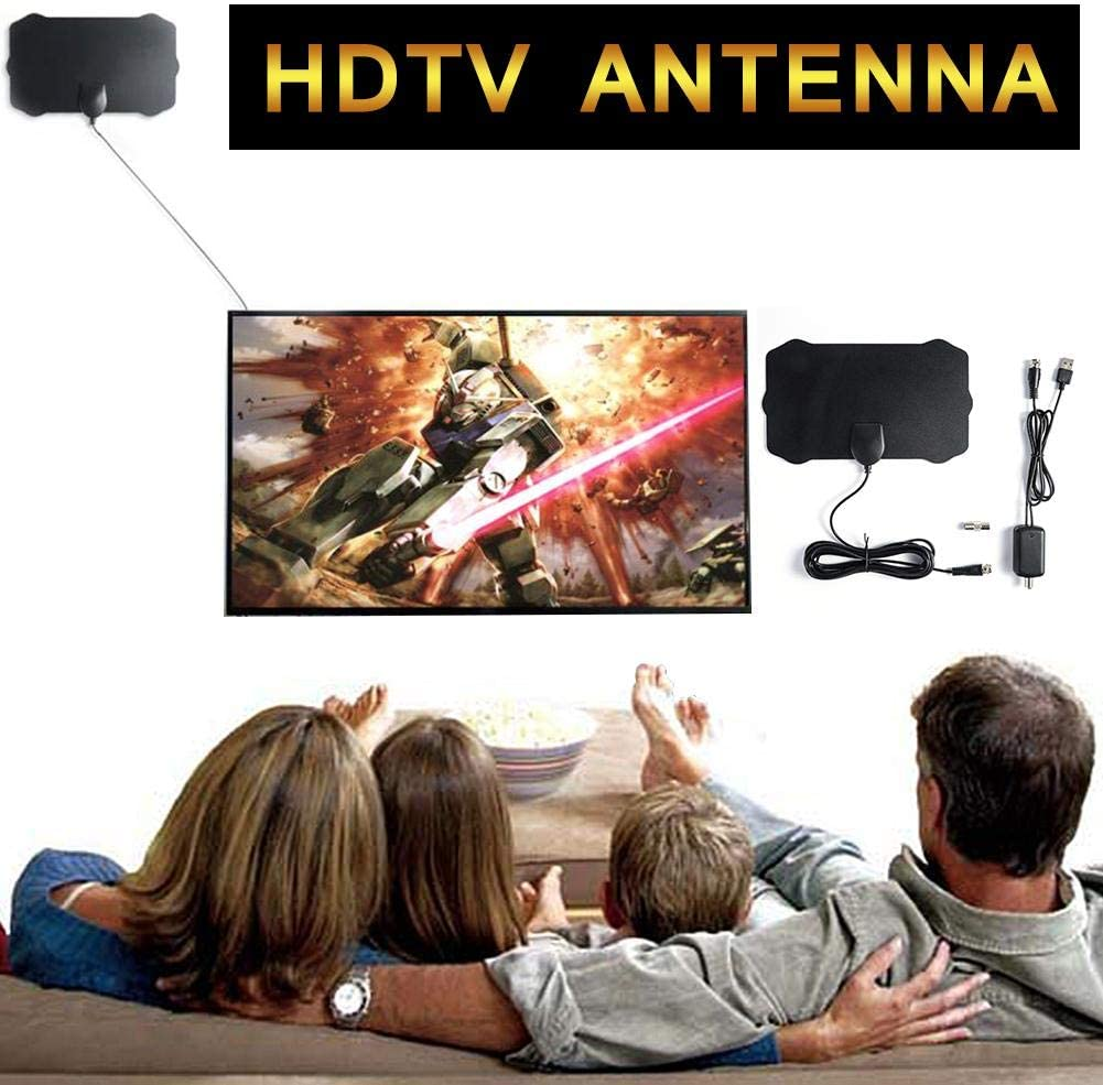 Heitaisi 120 Miles Range TV Antenna Amplified HD Digital TV Aerial Support 1080p /& All Older TVs Powerful HDTV Amplifier Signal Booster