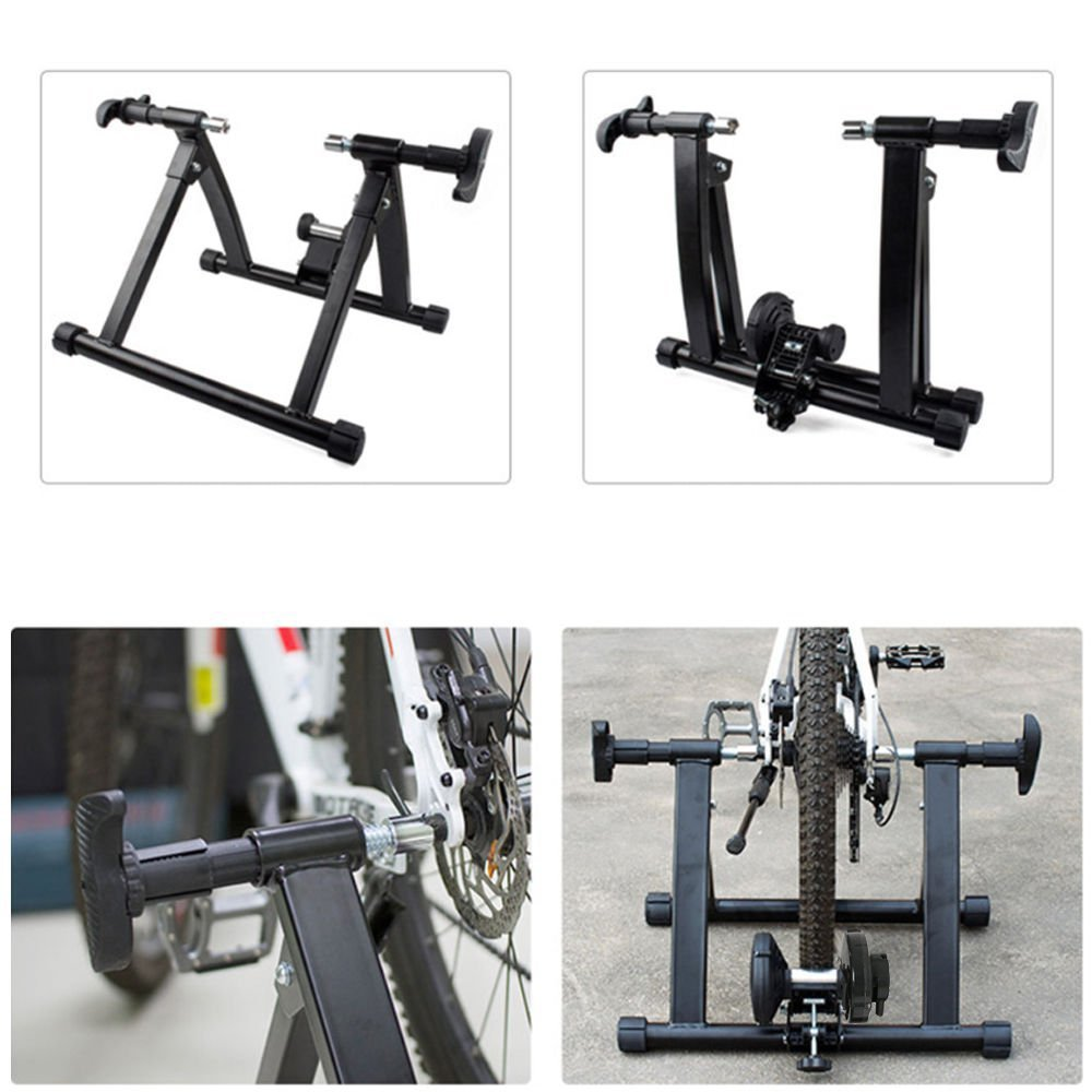 Karmas Product Exercise Resistance Bicycle Trainer Bike Magnetic Stand with Noise Reduction Wheel by Karmas Product (Image #7)