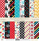 Pattern Paper Pack - Magic Moments - Scrapbook Card Stock Single-Sided 12''x12'' Collection Includes 16 Sheets - by Miss Kate Cuttables