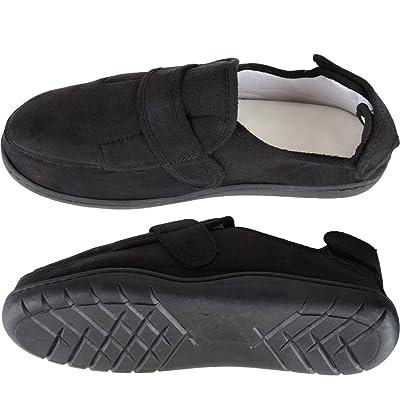 Home-X Adjustable Memory Foam Slippers - Black | Slippers