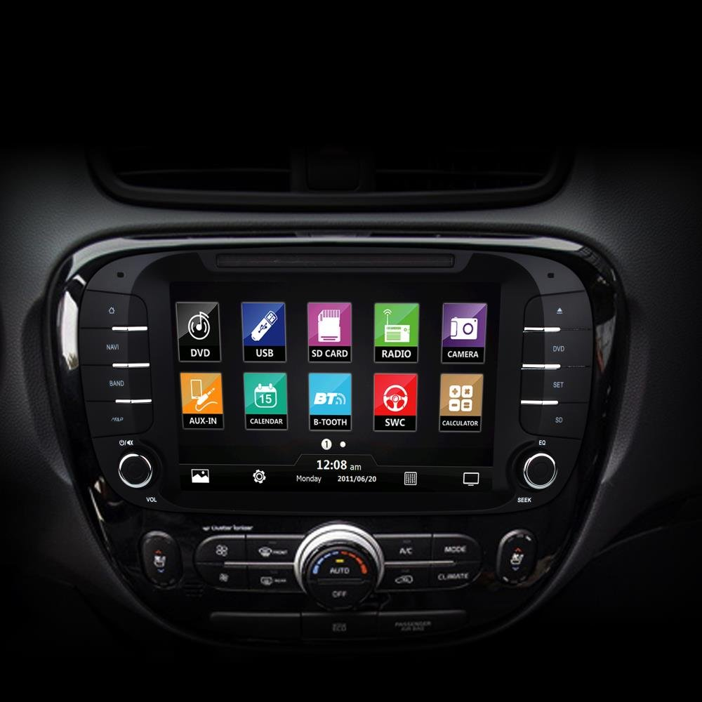 Kia Soul Car Stereo Receiver Direct Replacement 2014 System Wiring 2015 Gps Navigation Bluetooth Wireless Cd Dvd Player 8 Hd Touchscreen Display