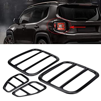 Tail Light Cover Delaman Tail Light Metal Protector de la Lámpara Protectora para Jeep Renegade 2015
