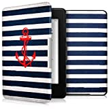 kwmobile Case for Amazon Kindle Paperwhite - Book Style PU Leather Protective e-Reader Cover Folio Case - red dark blue white
