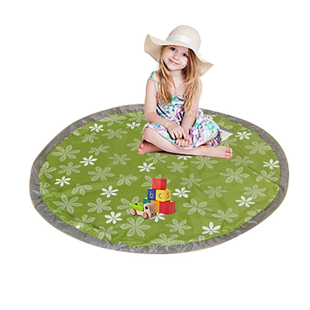 (Talla L) Bolsa de Almacenamiento de Juguetes,Oxford Bolsa Recoger Lego, Alfombra de Picnic para Niños, Diámetro-150cm/Rosa Leegoal