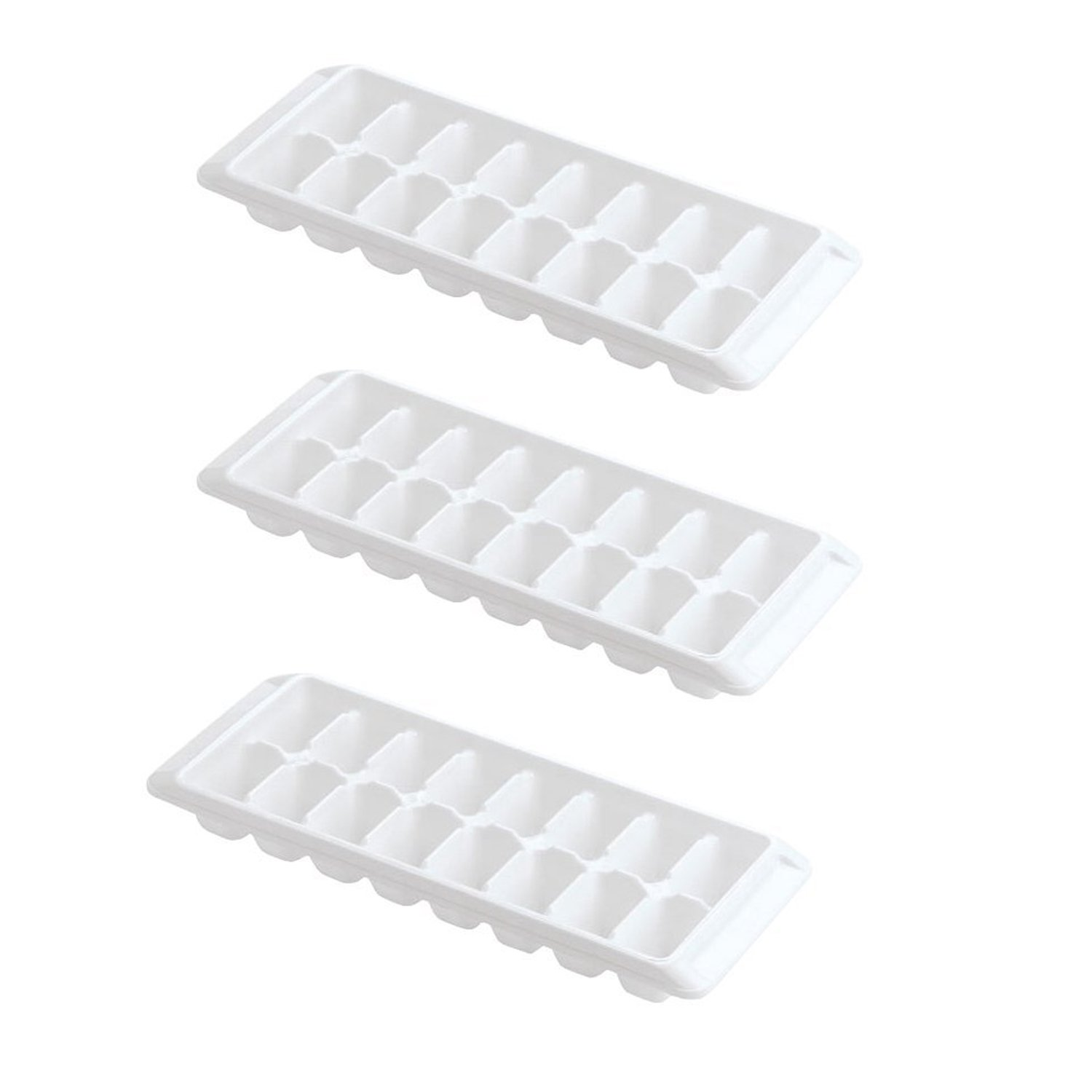 Rubbermaid - Ice Cube Tray, 16 cube trays (3 Pack, White)
