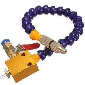 Yosoo Mist Coolant Spray System Mist Lubrication System Cardan Tube for CNC Lathe Mill Drill Machine (#2)