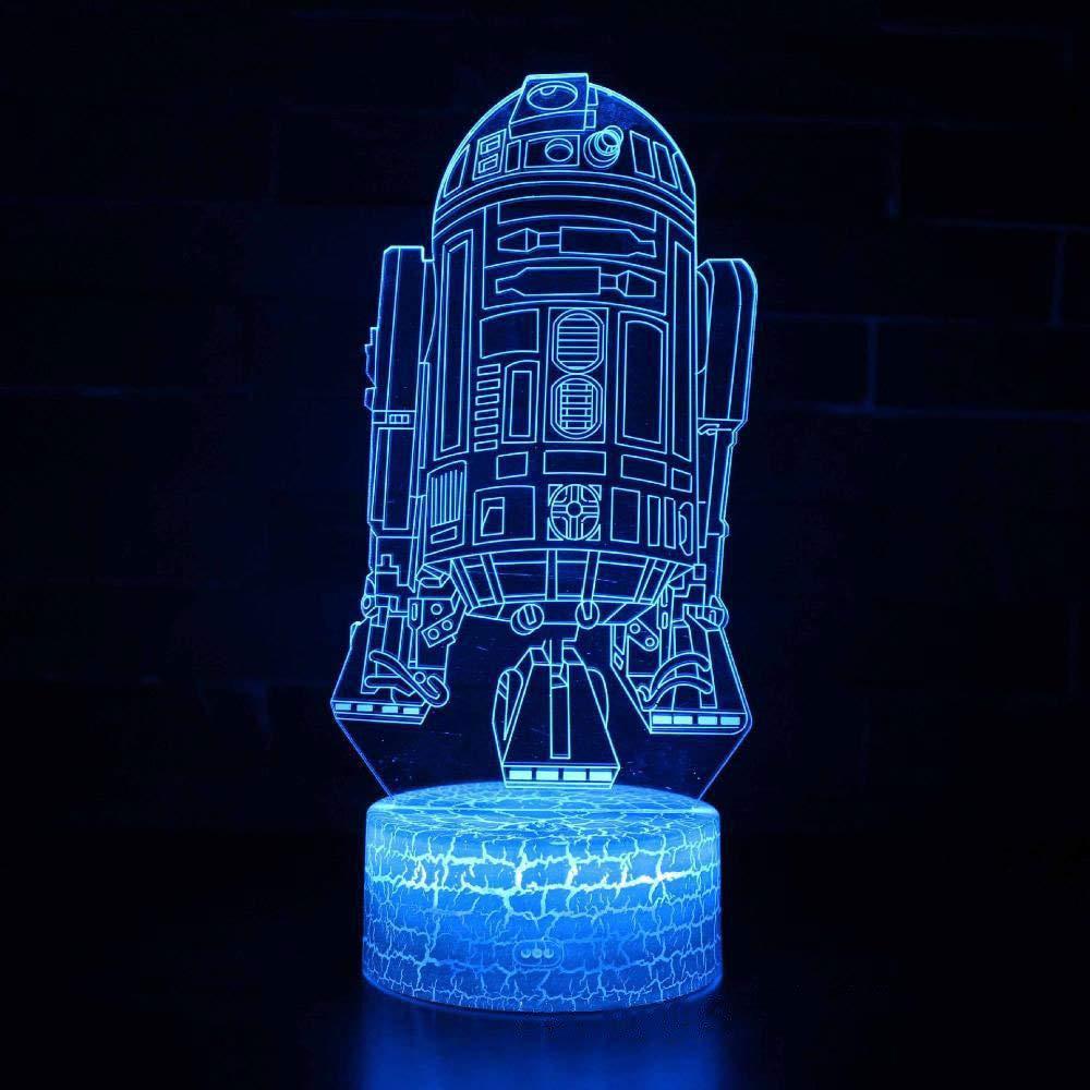 Tcaijing Nachtlicht LED Nachtlicht,3D Bunte Touch Fernbedienung Visual Stereo Ambient Licht Acryl USB Netzteil
