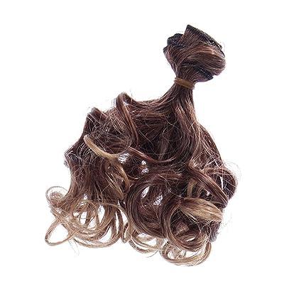 15x100cm DIY Poupée Perruque Cheveux Bouclés Rinka Hair Pour BJD SD Barbie Dolls - #1, XL