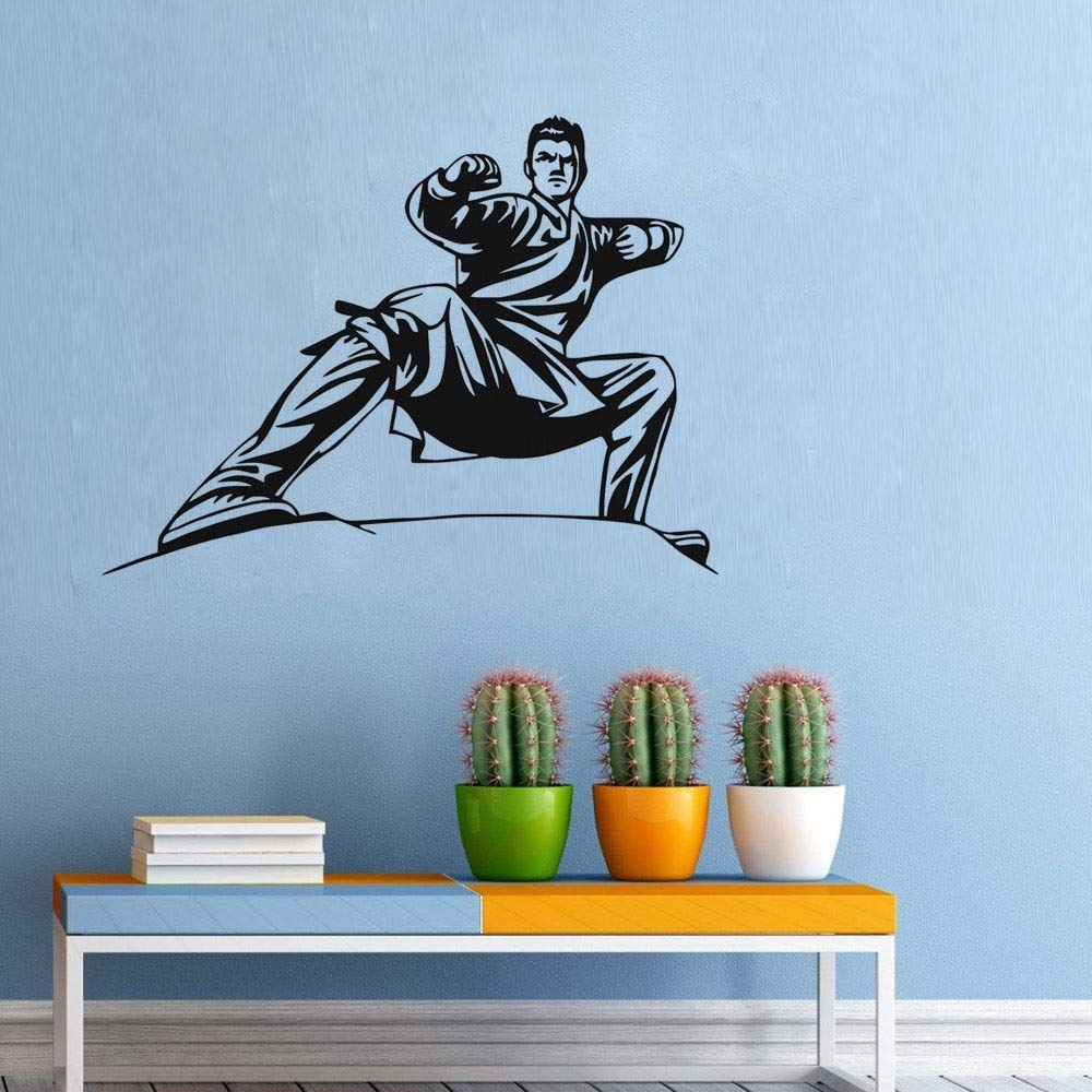 Nisou Wall Decal Sticker Art Mural Home Decor Quote Home Decor Karate Stance Home Living Decorative Sticker Carving Kids Boys Room by Nisou