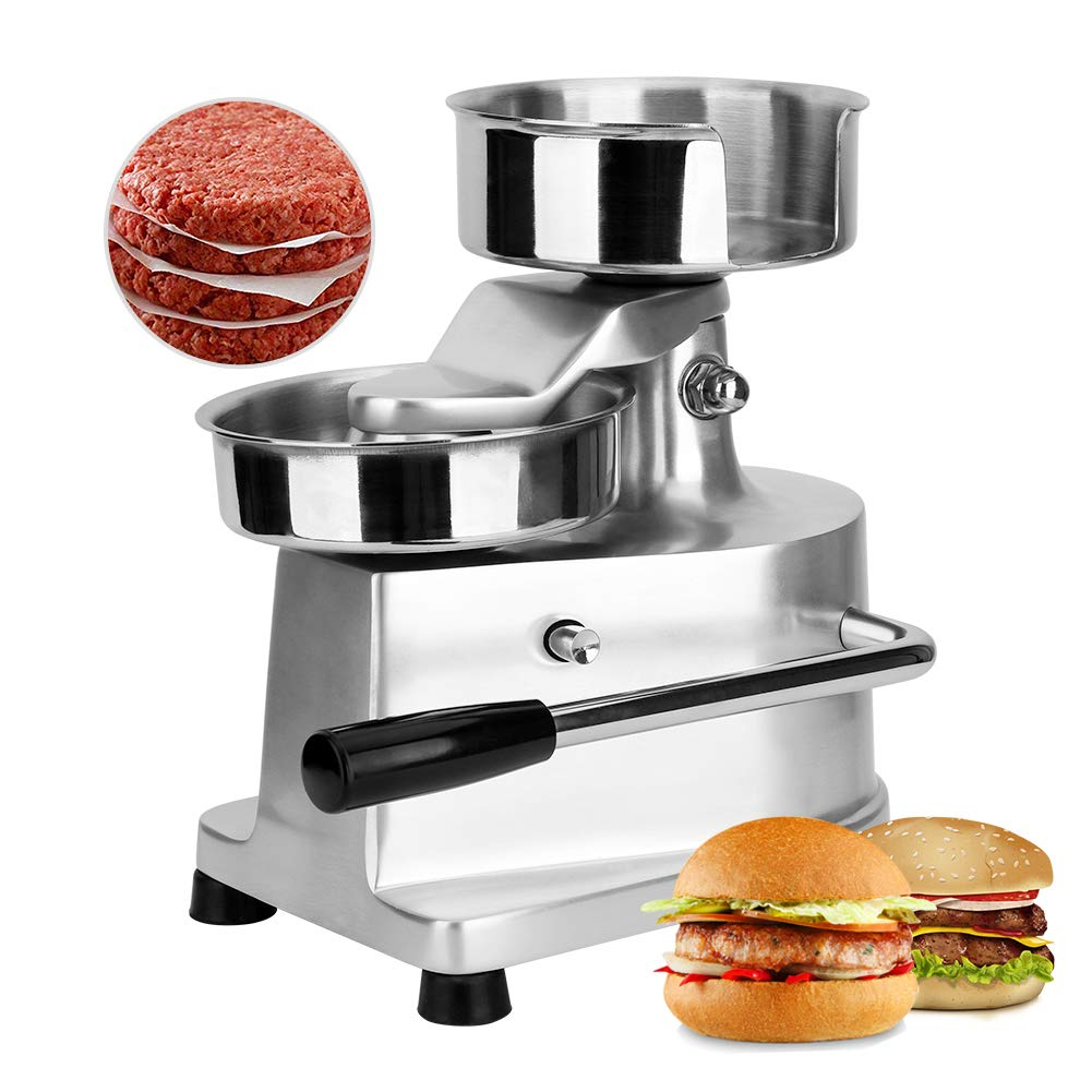 CARIHOME Burger Press Commercial Burger Maker Patty Press Machine Manual Stainless Steel Home Hamburger Forming Machine with 500Pcs Greaseproof Papers by CARIHOME