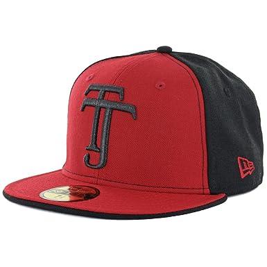 64566626992b6 ... usa new era 59fifty club tijuana xolos quottjquot fitted hat black red  4f6da 6dfa5