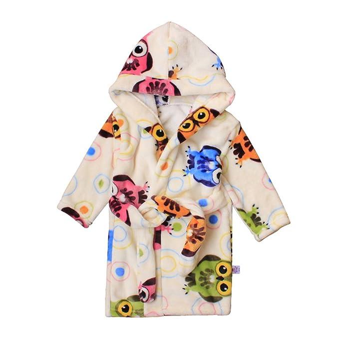 Toddlers kids Hooded Terry Robe Fleece Bathrobe Children s Pajamas  Sleepwear (2T 1439d4120
