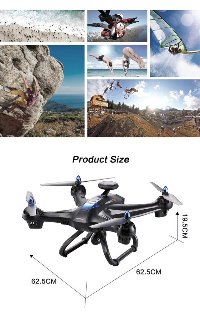 Shy portátil Mundial Drone x183 con 5 GHz WiFi FPV 1080P Cámara ...