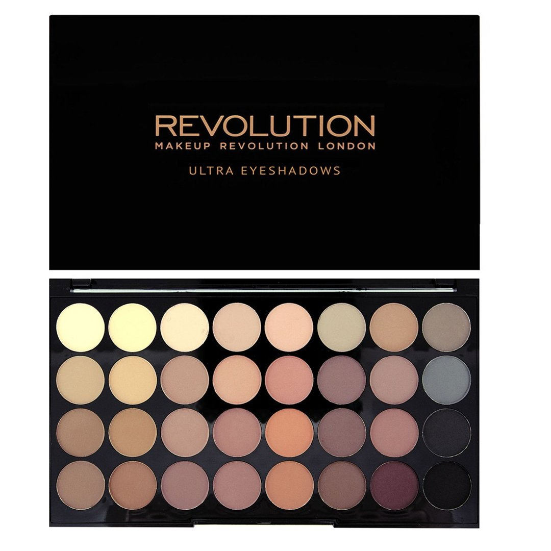 MAKEUP REVOLUTION Ultra 32 Shade Eyeshadow Palette Flawless Matte, 16 g 17861