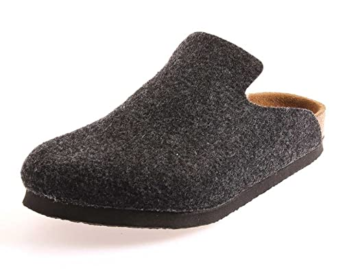 Sandal Style Herren Clogs Pantoletten  schwarz anthrazit
